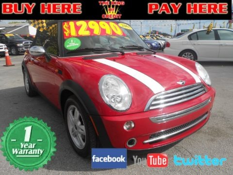 Chili Red 2008 Mini Cooper Convertible