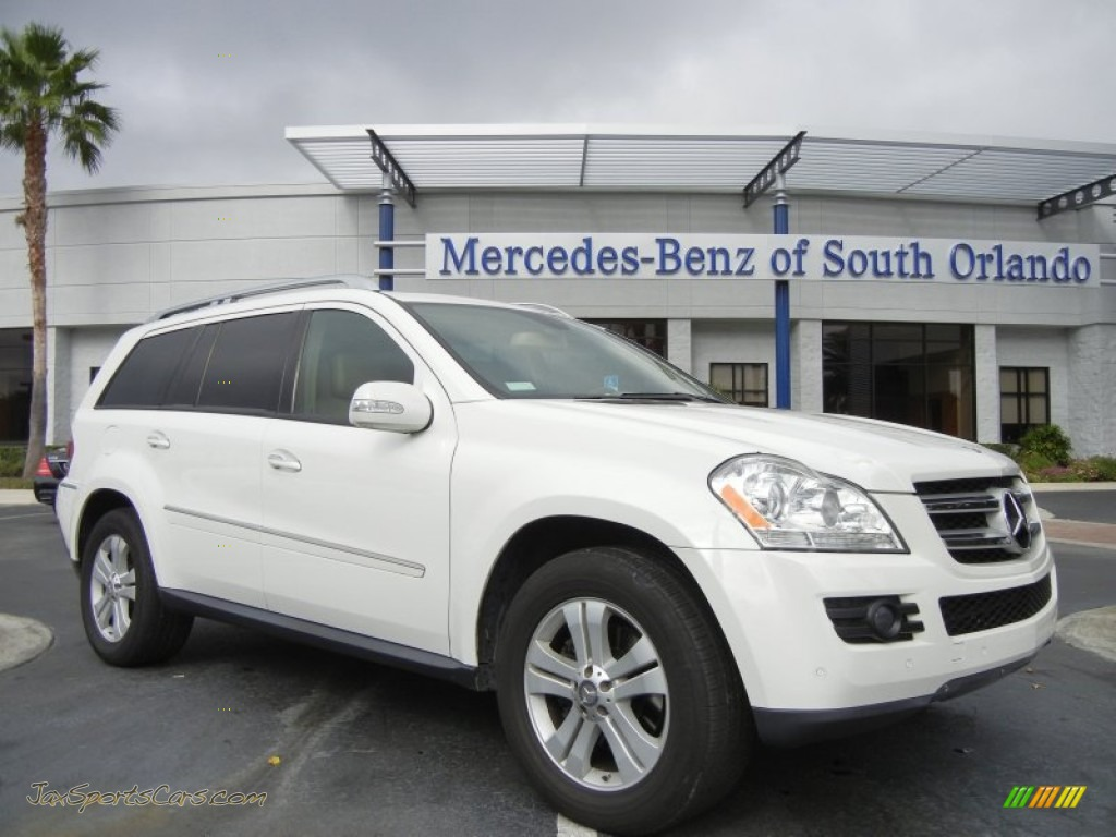 2008 mercedes benz gl 450 4matic in arctic white 366187 jax sports cars cars for sale in. Black Bedroom Furniture Sets. Home Design Ideas