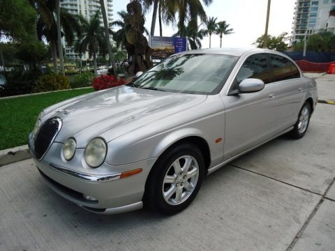 Platinum Metallic 2003 Jaguar S-Type 3.0