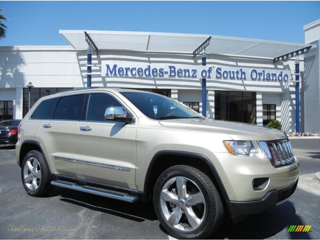 2011 jeep grand cherokee overland 4x4 in white gold metallic photo 8 640554 jax sports cars. Black Bedroom Furniture Sets. Home Design Ideas
