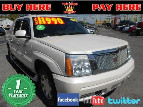 White Diamond 2002 Cadillac Escalade EXT AWD