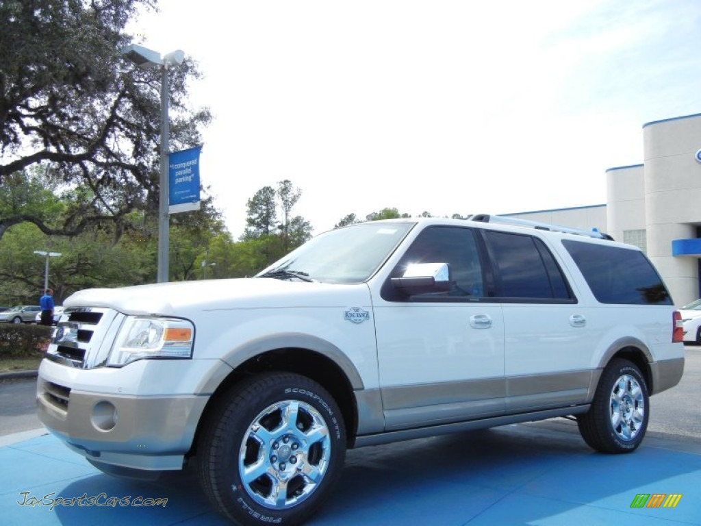2013 ford expedition el king ranch in white platinum tri. Black Bedroom Furniture Sets. Home Design Ideas