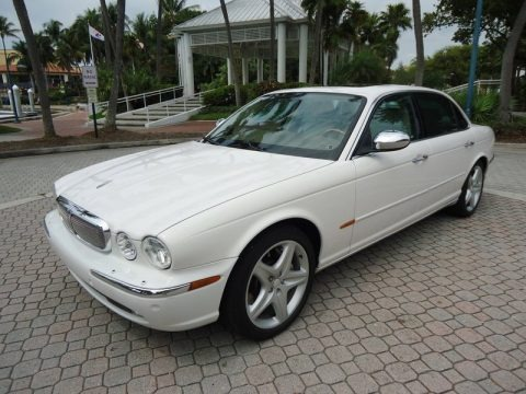 White Onyx 2005 Jaguar XJ Super V8