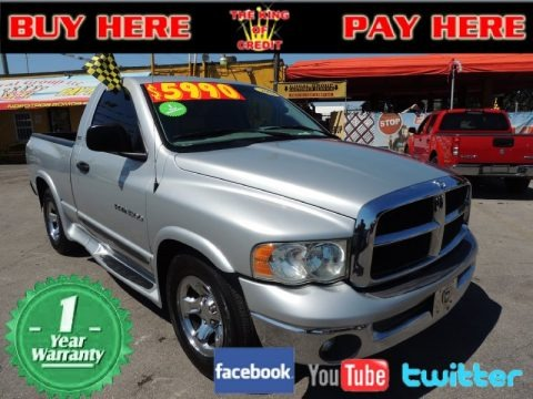 Bright Silver Metallic 2002 Dodge Ram 1500 SLT Regular Cab