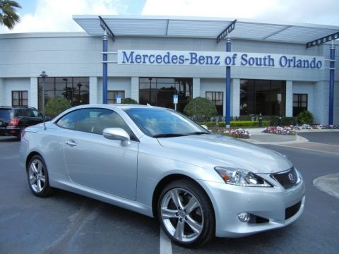 Tungsten Pearl 2013 Lexus IS 350 C Convertible