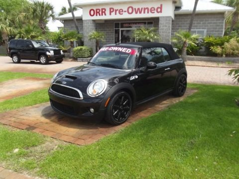 Midnight Black 2009 Mini Cooper S Convertible