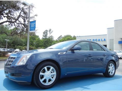 Blue Diamond Tri-Coat 2009 Cadillac CTS Sedan