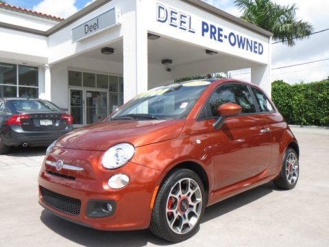 Rame (Copper Orange) 2012 Fiat 500 Sport