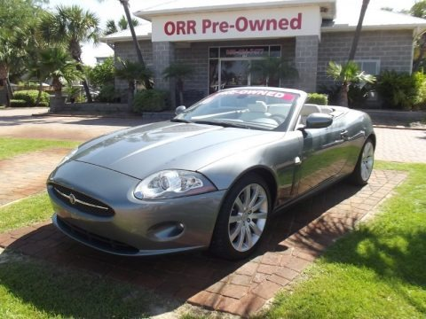 Lunar Grey Metallic 2007 Jaguar XK XK8 Convertible