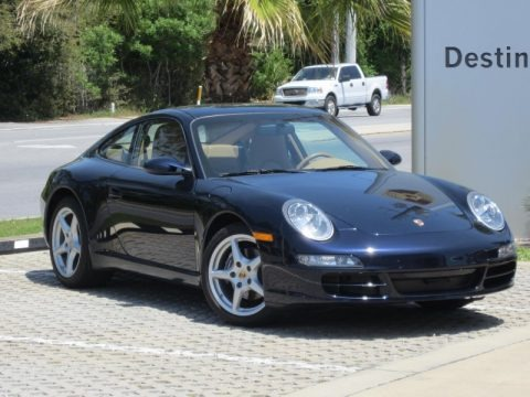 Midnight Blue Metallic 2007 Porsche 911 Carrera Coupe