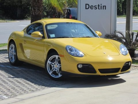 Speed Yellow 2011 Porsche Cayman