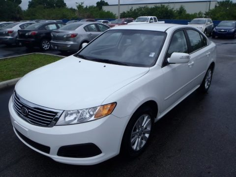 Clear White 2010 Kia Optima LX