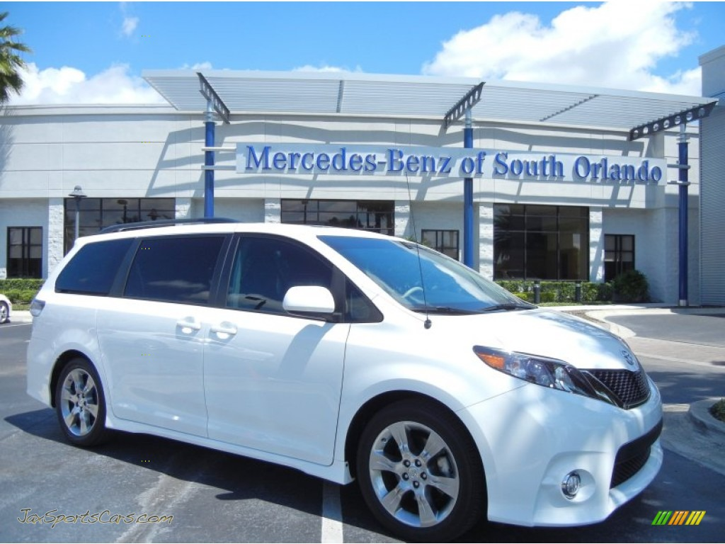 2012 Toyota Sienna Se In Super White 236807 Jax Sports