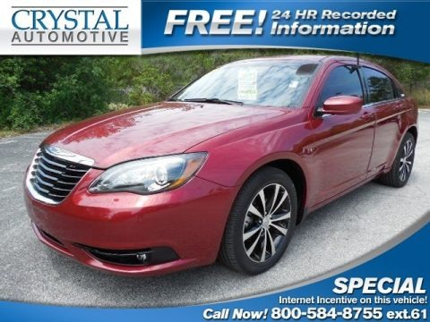 Deep Cherry Red Crystal Pearl Coat 2012 Chrysler 200 S Sedan