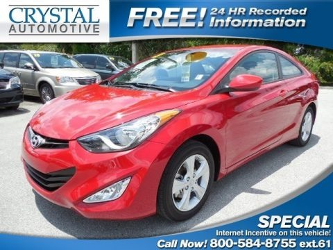 Volcanic Red 2013 Hyundai Elantra Coupe GS