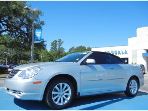 Bright Silver Metallic 2010 Chrysler Sebring Touring Convertible