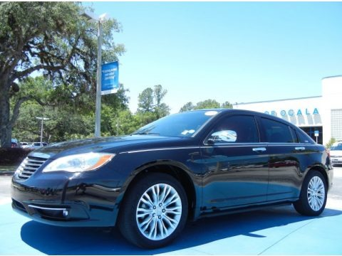 Black 2012 Chrysler 200 Limited Sedan