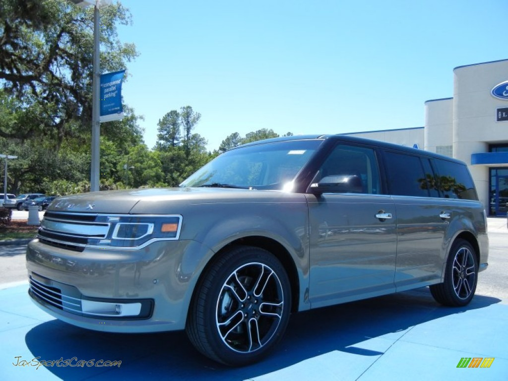 Mineral gray metallic charcoal black ford flex limited ecoboost awd