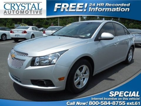 Silver Ice Metallic 2012 Chevrolet Cruze LT