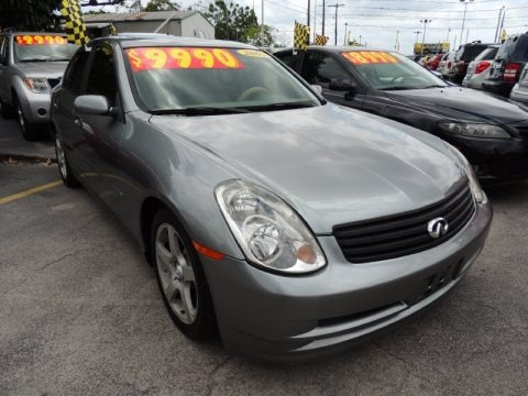 Diamond Graphite Gray Metallic 2004 Infiniti G 35 Sedan