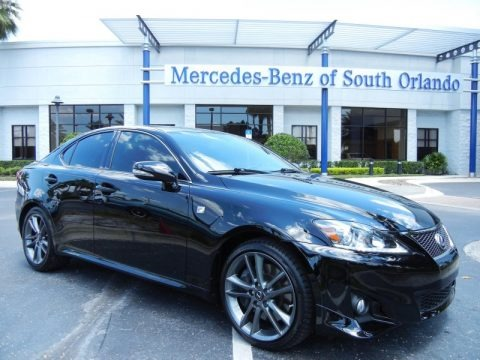 Obsidian Black 2012 Lexus IS 350