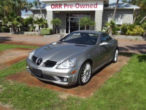 designo Graphite Metallic 2007 Mercedes-Benz SLK 55 AMG Roadster