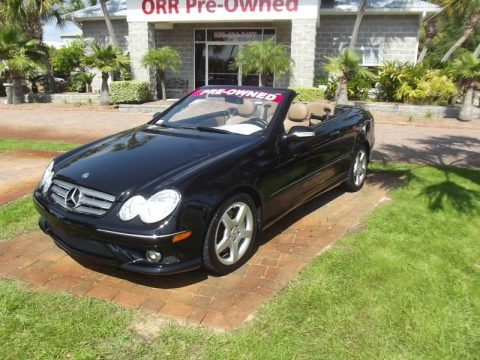 Black 2009 Mercedes-Benz CLK 350 Cabriolet