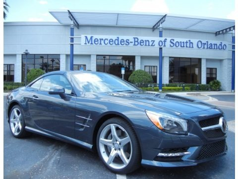 Steel Grey Metallic 2013 Mercedes-Benz SL 550 Roadster