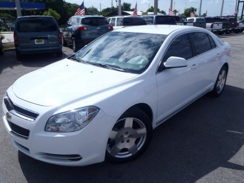 Summit White 2010 Chevrolet Malibu LT Sedan