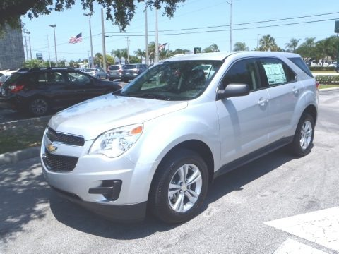 Silver Ice Metallic 2013 Chevrolet Equinox LS