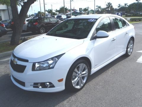 Summit White 2013 Chevrolet Cruze LTZ/RS