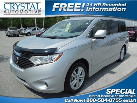 Brilliant Silver 2013 Nissan Quest 3.5 LE