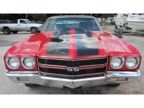 Red 1970 Chevrolet Chevelle Sports Coupe