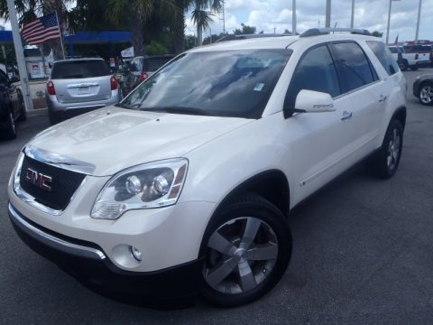 White Diamond Tricoat 2010 GMC Acadia SLT