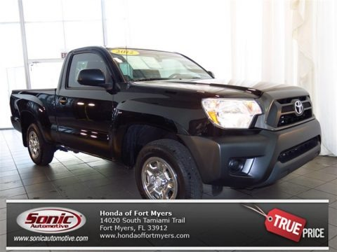 Black 2012 Toyota Tacoma Regular Cab