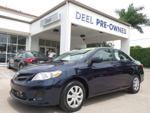 Nautical Blue Metallic 2011 Toyota Corolla LE