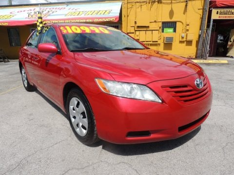 Barcelona Red Metallic 2009 Toyota Camry LE