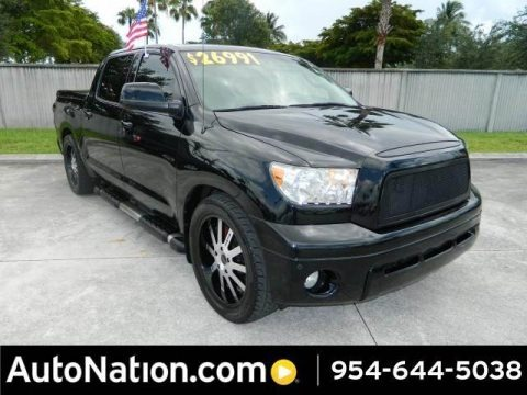 Black 2007 Toyota Tundra Limited CrewMax