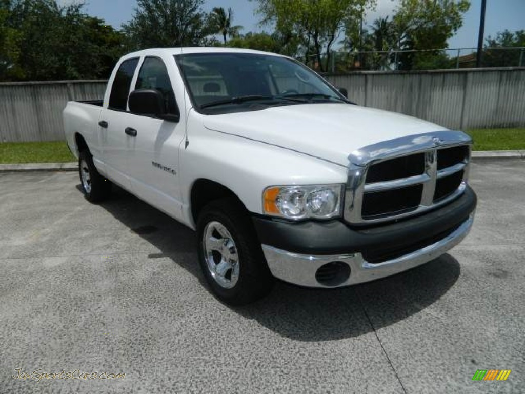2005 dodge ram 1500 st quad cab in bright white 644806 jax sports cars cars for sale in. Black Bedroom Furniture Sets. Home Design Ideas