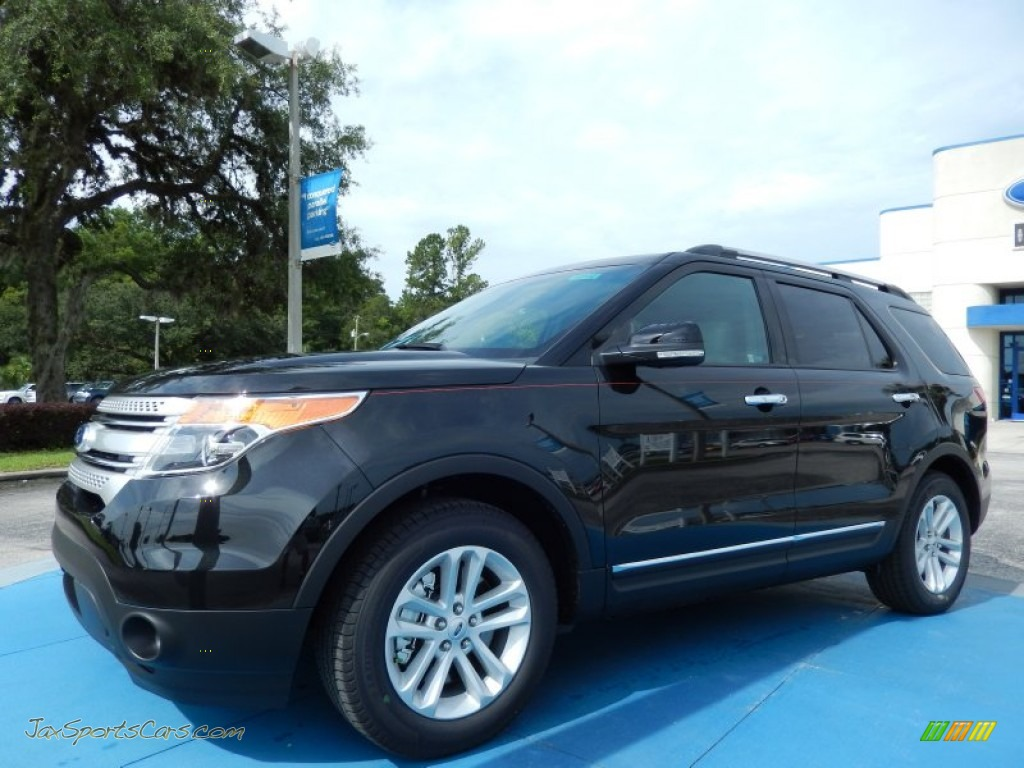 2014 Ford Explorer Xlt In Tuxedo Black A16175 Jax