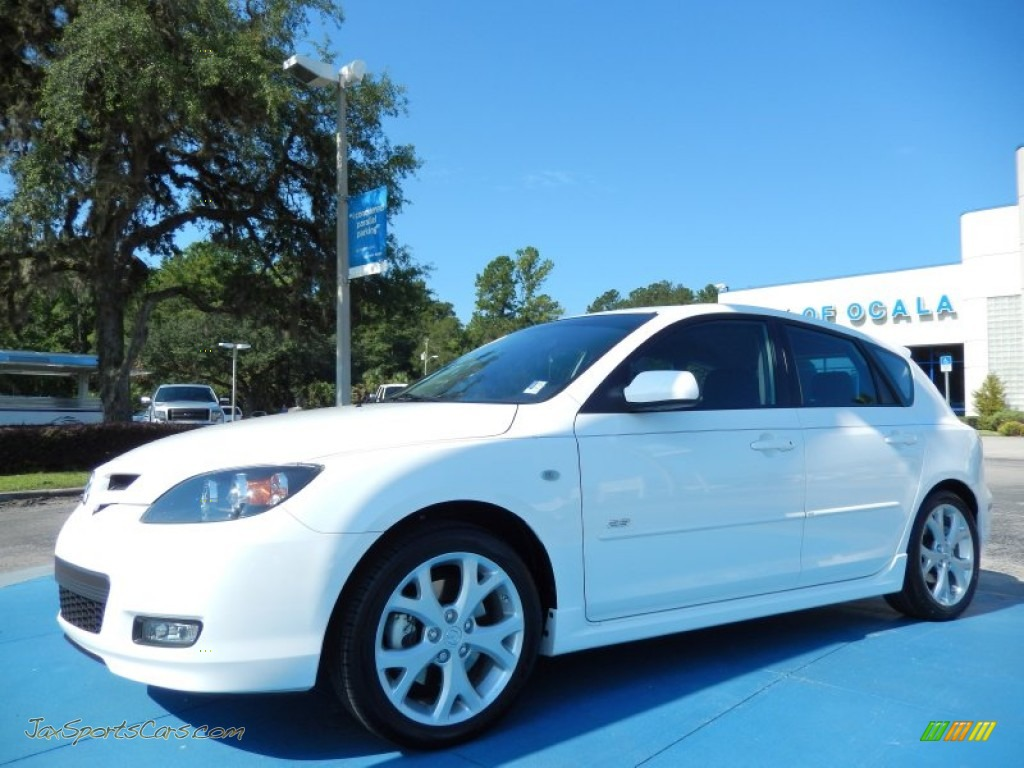 2008 mazda mazda3 s sport hatchback in crystal white pearl. Black Bedroom Furniture Sets. Home Design Ideas