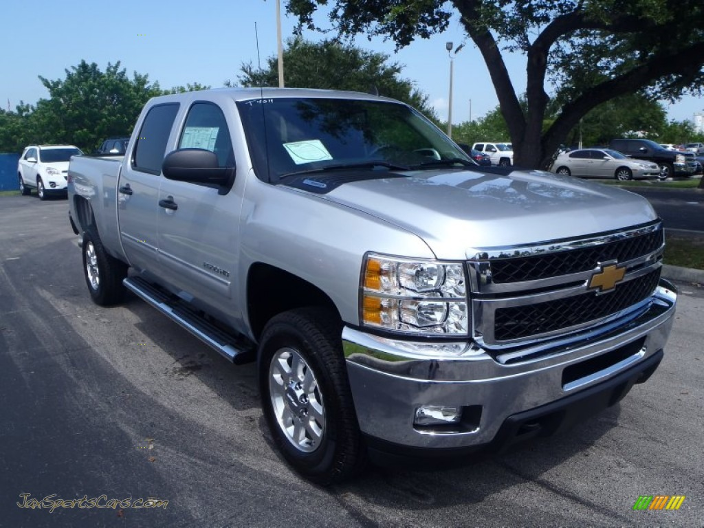 2014 chevrolet silverado 2500hd lt crew cab 4x4 in silver ice metallic 118721 jax sports