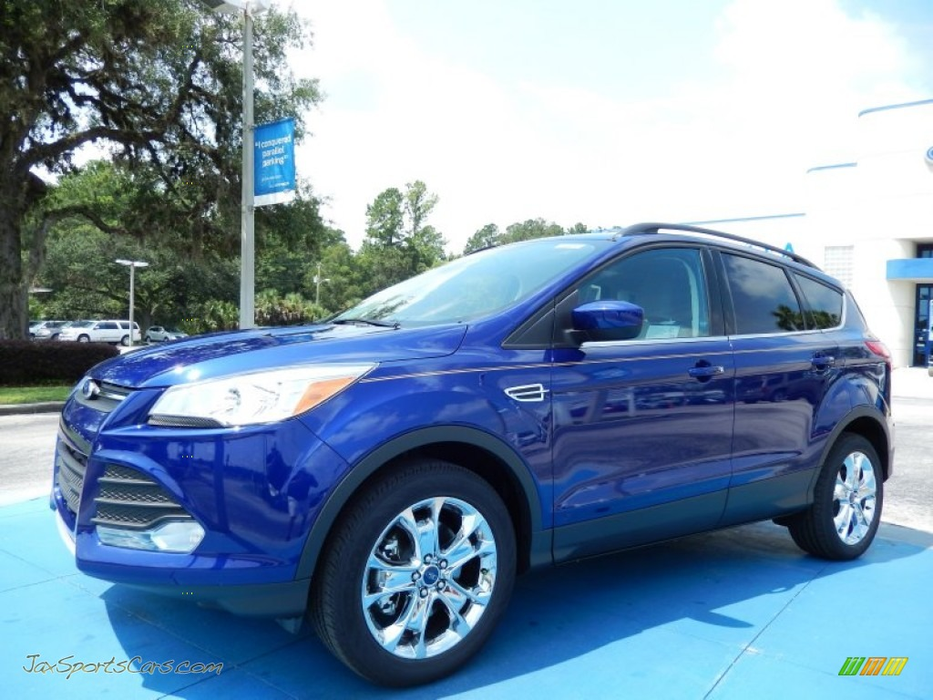 Deep impact blue medium light stone ford escape se 2 0l ecoboost
