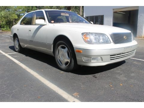 Diamond White Pearl 1998 Lexus LS 400