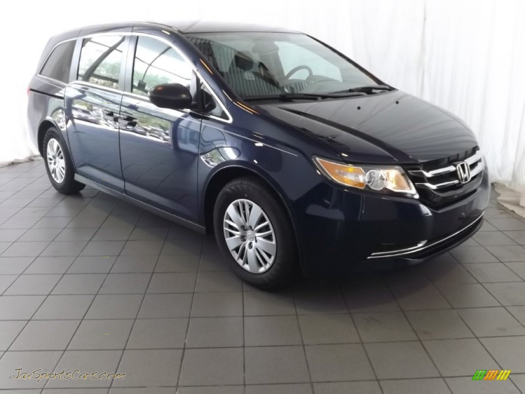 2014 honda odyssey lx in obsidian blue pearl 001683 jax sports cars cars for sale in florida. Black Bedroom Furniture Sets. Home Design Ideas