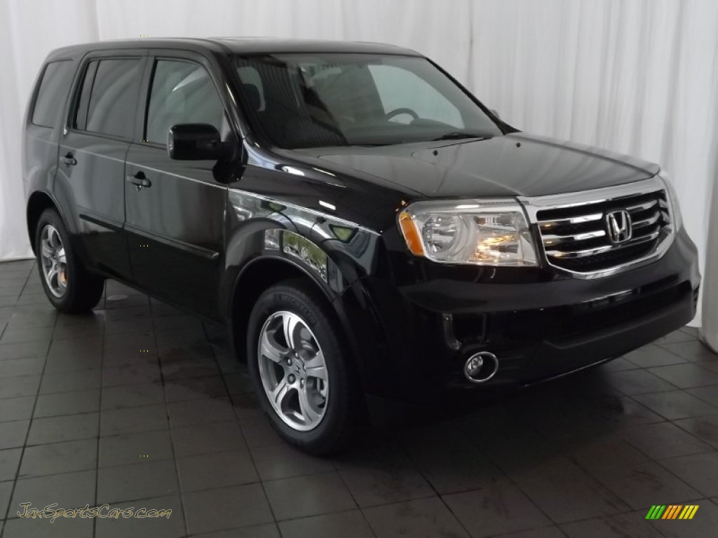 2013 honda pilot ex l in crystal black pearl 041433 for Black honda pilot