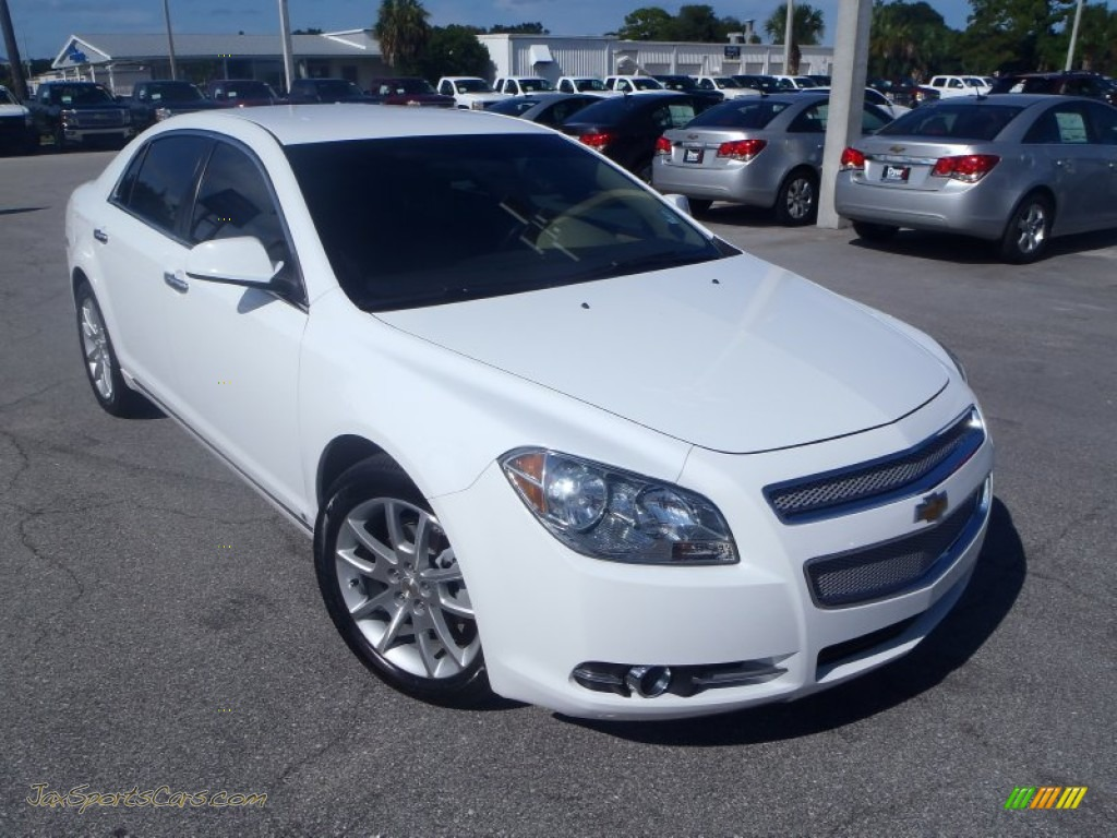 2009 chevrolet malibu ltz sedan in summit white 244409. Black Bedroom Furniture Sets. Home Design Ideas