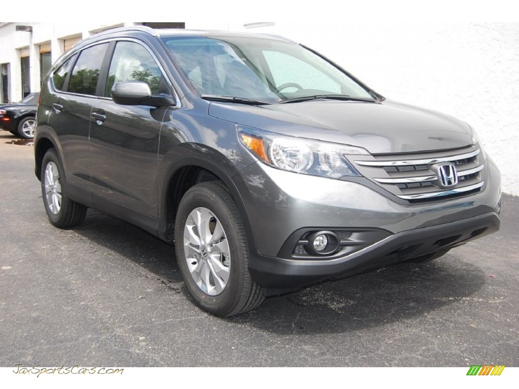 2014 honda cr v ex l awd in polished metal metallic for Gray honda crv