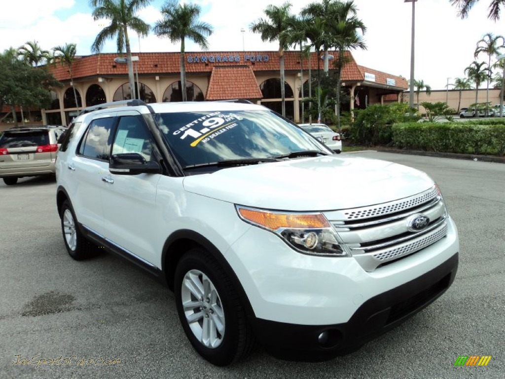 2013 ford explorer xlt in oxford white b78358 jax sports cars cars for sale in florida. Black Bedroom Furniture Sets. Home Design Ideas