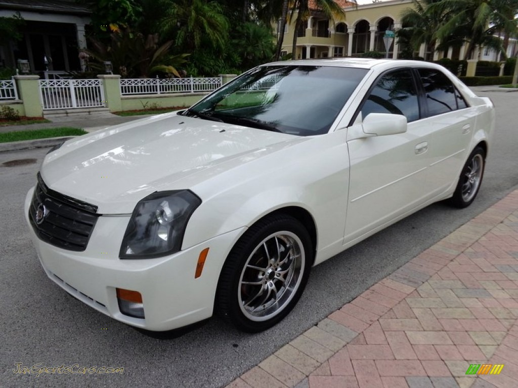 2005 cadillac cts sedan in white diamond 173944 jax sports cars cars for sale in florida. Black Bedroom Furniture Sets. Home Design Ideas